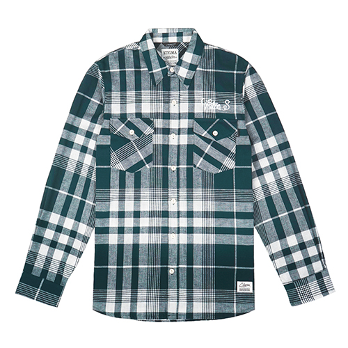 VATOS SQUAD CHECK SHIRTS GREEN