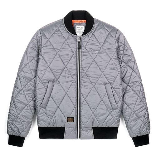 STGM QUILTING BOMBER JACKET GREYSOLD OUT
