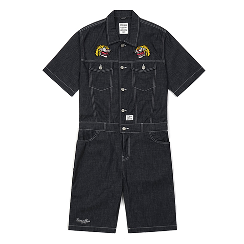 TIGER DENIM COVERALL BLACK
