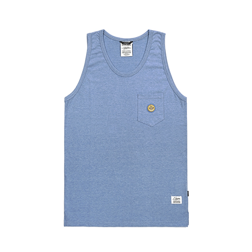 SMILE POCKET SLEEVELESS BLUE