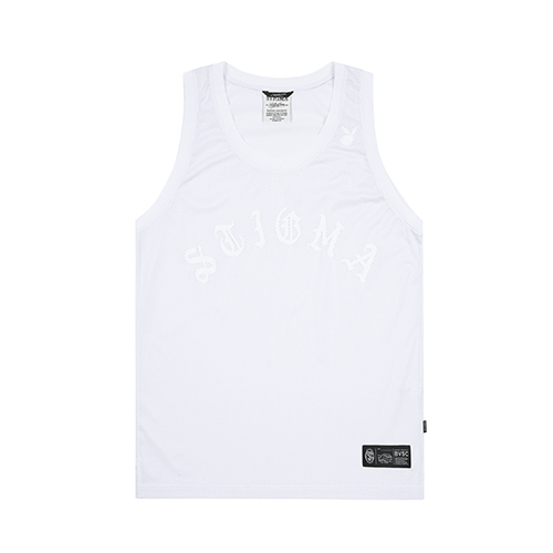 LOGO MESH SLEEVELESS WHITESOLD OUT