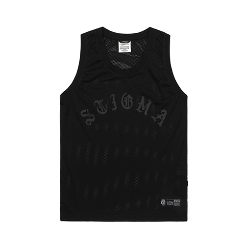 LOGO MESH SLEEVELESS BLACKSOLD OUT