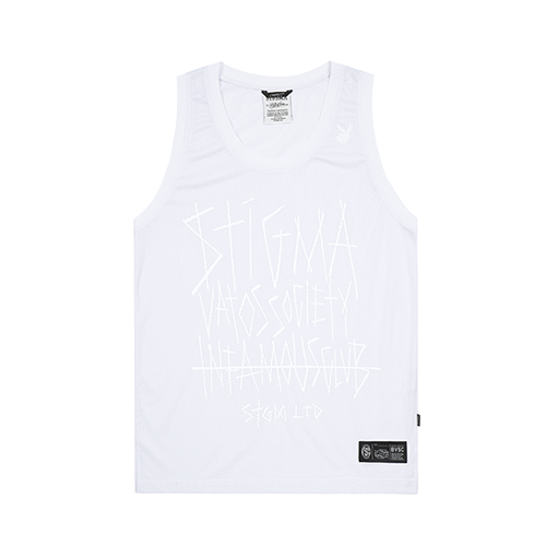 INFAMOUS MESH SLEEVELESS WHITESOLD OUT