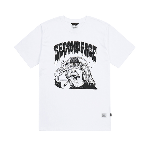 SECOND FACE X STIGMA T-SHIRTS WHITESOLD OUT