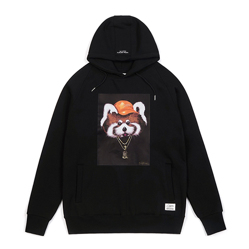 RED PANDA HOODIE BLACKSOLD OUT