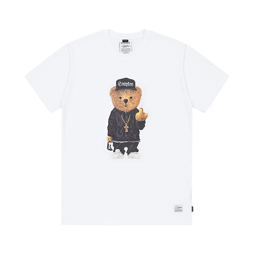 COMPTON BEAR T-SHIRTS WHITE