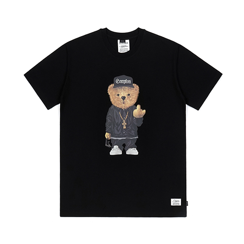 COMPTON BEAR T-SHIRTS BLACK