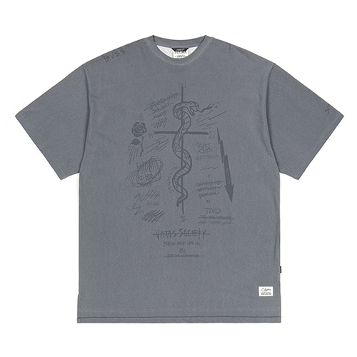 GRAFF PIGMENT OVERSIZED T-SHIRTS GREYSOLD OUT
