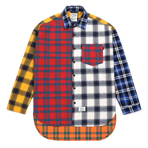 CROSS OVERSIZED FLANNEL CHECK SHIRTS MULTISOLD OUT