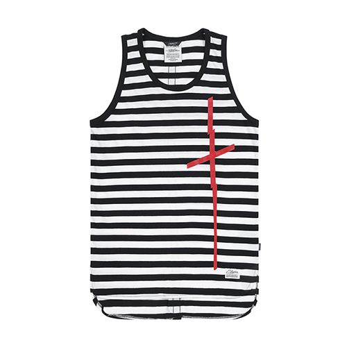 CRUZ LONG SLEEVELESS BLACK STRIPE
