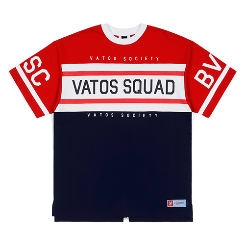 SQUAD OVERSIZED RUGBY T-SHIRTS RED