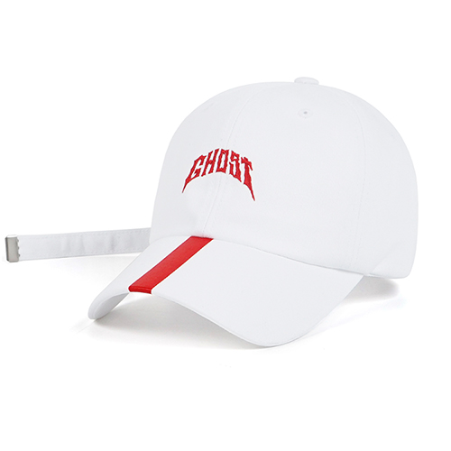 GHOST BASEBALL CAP WHITESOLD OUT