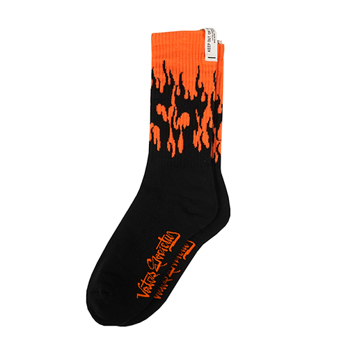 FLAME SKATE SOCKS ORANGESOLD OUT
