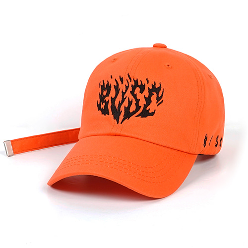 FLAME BASEBALL CAP ORANGE