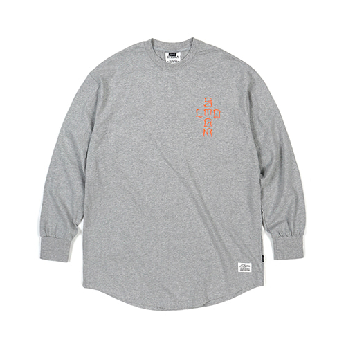 CRUZ LAYERED LONG SLEEVES T-SHIRTS GREYSOLD OUT