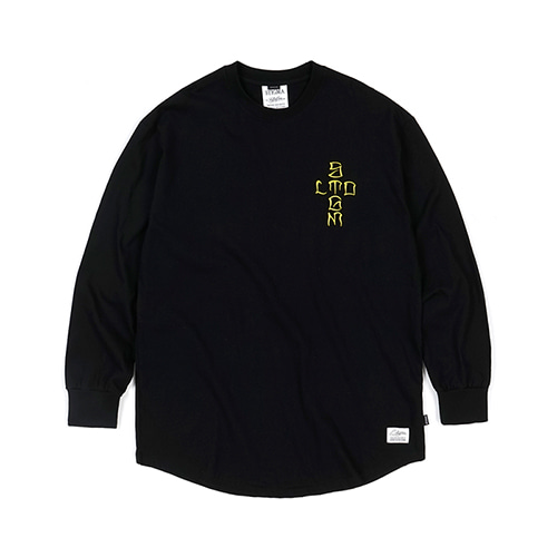 CRUZ LAYERED LONG SLEEVES T-SHIRTS BLACKSOLD OUT