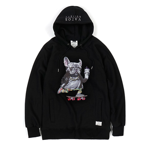 BULL DOG HOODIE BLACKSOLD OUT