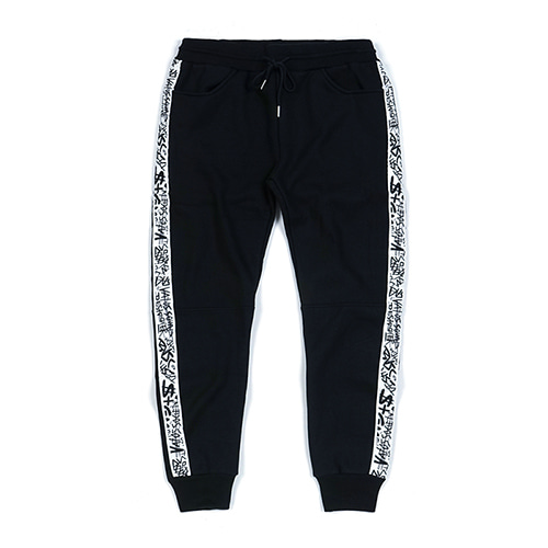 SIDE TAPE HEAVY SWEAT JOGGER PANTS BLACKSOLD OUT