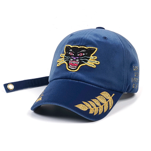 BLACK PANTHER VELVET BASEBALL CAP BLUESOLD OUT