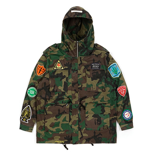 FAITH OVERSIZED FIELD JACKET CAMOUFLAGE