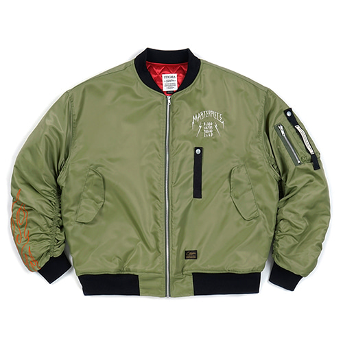 MASTERPIECE OVERSIZED MA-1 JACKET KHAKI