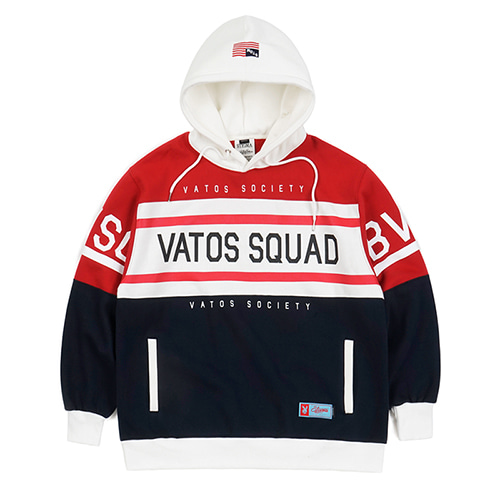 SQUAD OVERSIZED HEAVY SWEAT RUGBY HOODIE NAVY