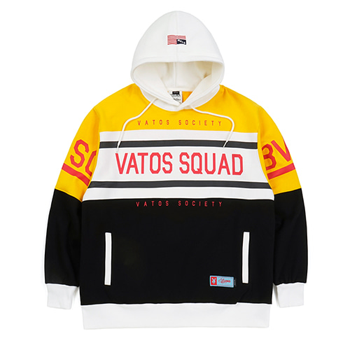 SQUAD OVERSIZED HEAVY SWEAT RUGBY HOODIE YELLOW