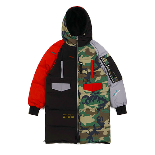 [예약판매]FAMOUS DUCKDOWN LONG PADDING JACKET MULTI
