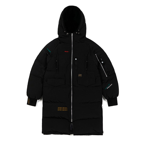 FAMOUS DUCKDOWN LONG PADDING JACKET BLACKSOLD OUT