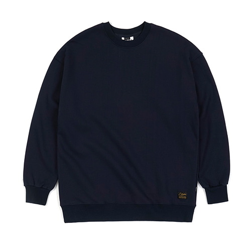 BLANK HEAVY SWEAT OVERSIZED CREWNECK NAVY