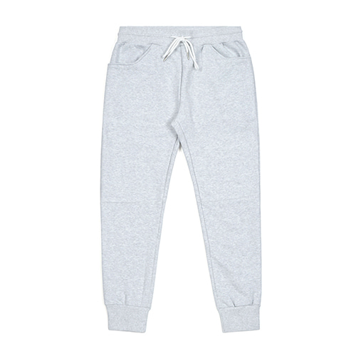 BLANK HEAVY SWEAT JOGGER PANTS WHITE MELANGE