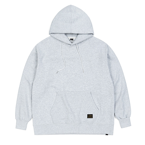 BLANK HEAVY SWEAT OVERSIZED HOODIE WHITE MELANGE