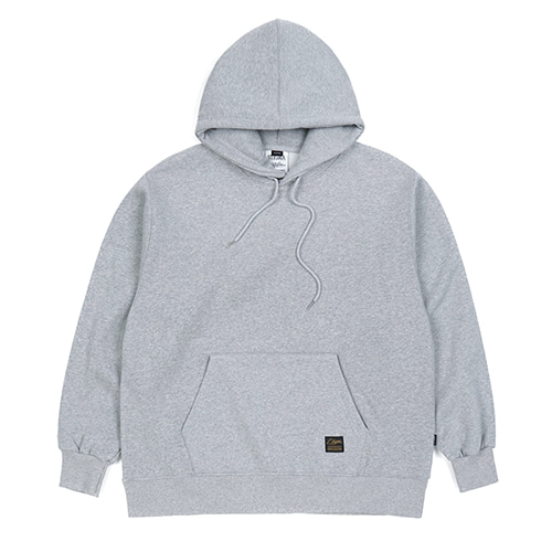 BLANK HEAVY SWEAT OVERSIZED HOODIE GREY