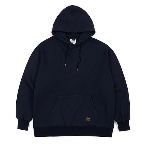 BLANK HEAVY SWEAT OVERSIZED HOODIE NAVY
