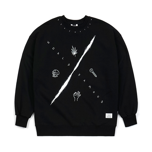 MMX HEAVY SWEAT OVERSIZED CREWNECK BLACK