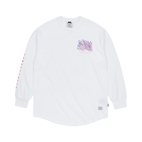 PRISM LAYERED LONG SLEEVES T-SHIRTS WHITE