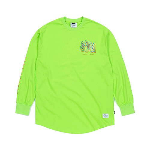 PRISM LAYERED LONG SLEEVES T-SHIRTS NEON GREEN