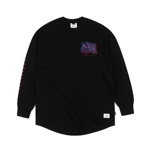 PRISM LAYERED LONG SLEEVES T-SHIRTS BLACK