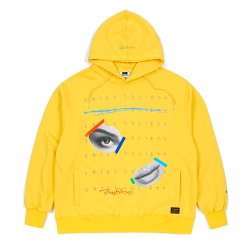 EYE HEAVY SWEAT OVERSIZED HOODIE YELLOW