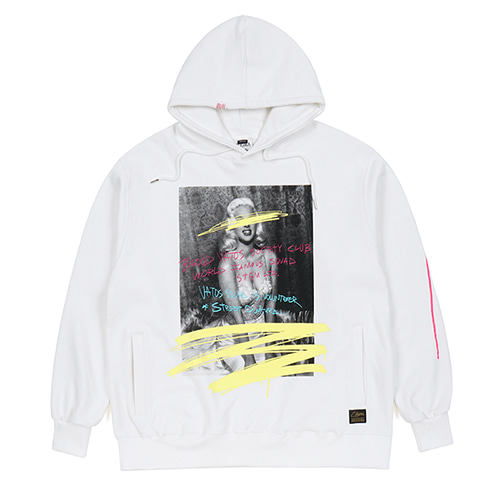 SYMBOL HEAVY SWEAT OVERSIZED HOODIE WHITESOLD OUT