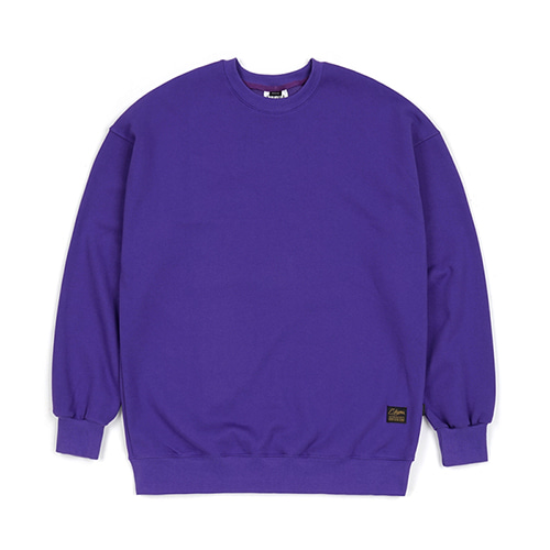 BLANK HEAVY SWEAT OVERSIZED CREWNECK VIOLET