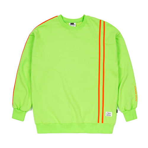 LINE SPORTS HEAVY SWEAT OVERSIZED CREWNECK NEON GREEN