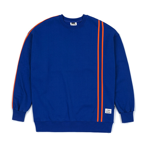 LINE SPORTS HEAVY SWEAT OVERSIZED CREWNECK BLUE