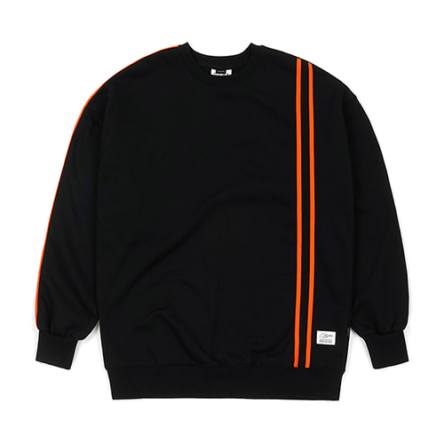 LINE SPORTS HEAVY SWEAT OVERSIZED CREWNECK BLACK