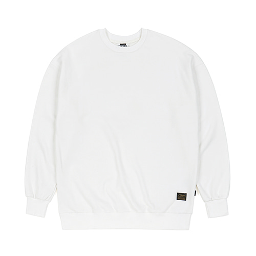 BLANK HEAVY SWEAT OVERSIZED CREWNECK IVORY