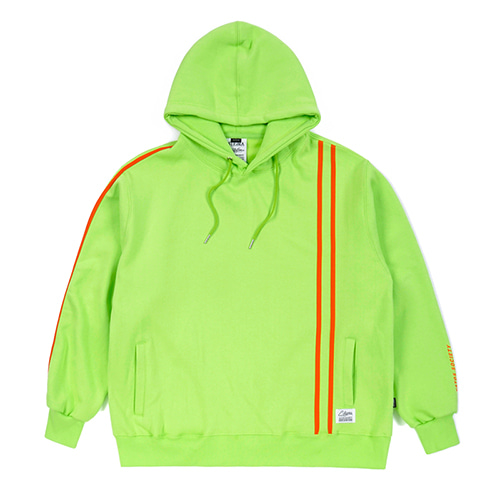 LINE SPORTS HEAVY SWEAT OVERSIZED HOODIE NEON GREEN