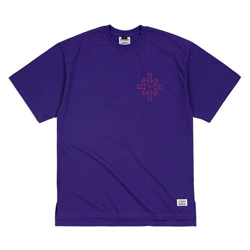 DESTROYER OVERSIZED T-SHIRTS VIOLET