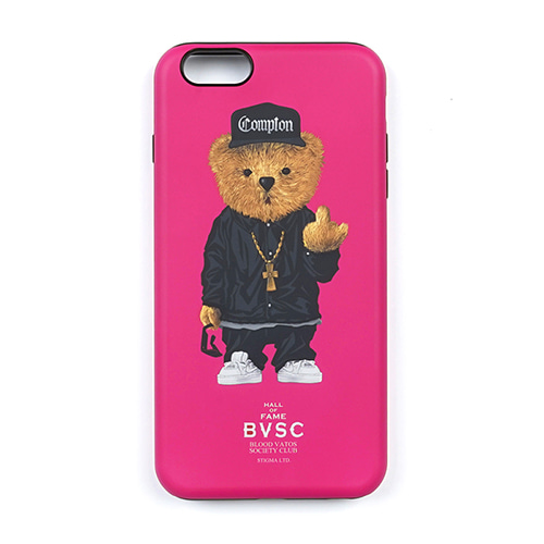 PHONE CASE COMPTON BEAR PINK iPHONE6S/6S+/7/7+/8/8+/X