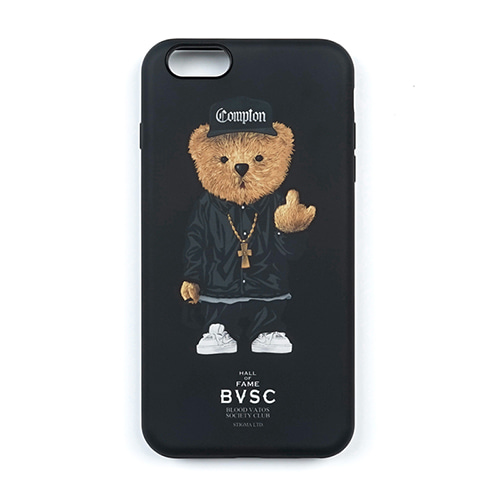 PHONE CASE COMPTON BEAR BLACK iPHONE6S/6S+/7/7+/8/8+/X