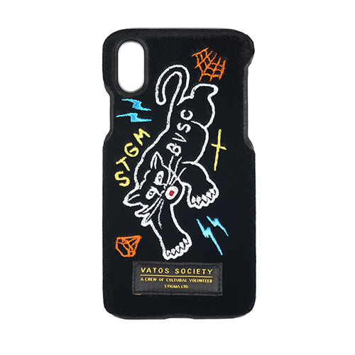 BLACK PANTHER VELVET FABRIC CASE BLACK iPhone 8 / 8+ / X
